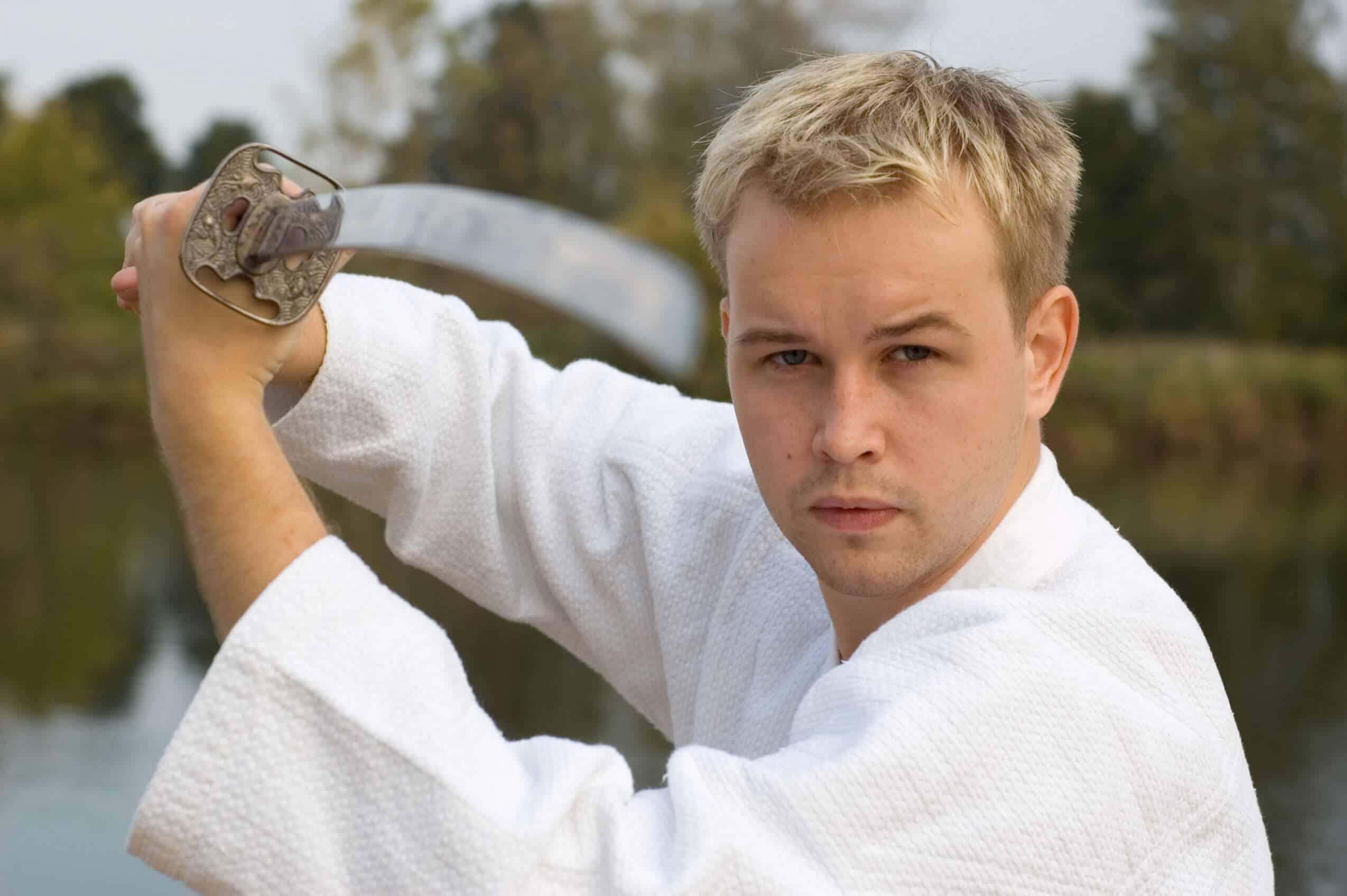 Martial Arts Lessons for Adults in Lake Jackson TX - Samurai Sword Posing Blog
