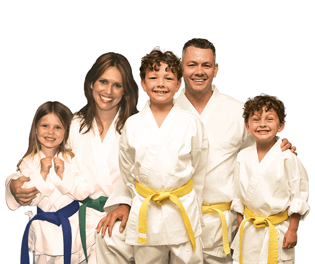 Martial Arts Lessons for Families in Lake Jackson TX - Group Family for Martial Arts Footer Banner