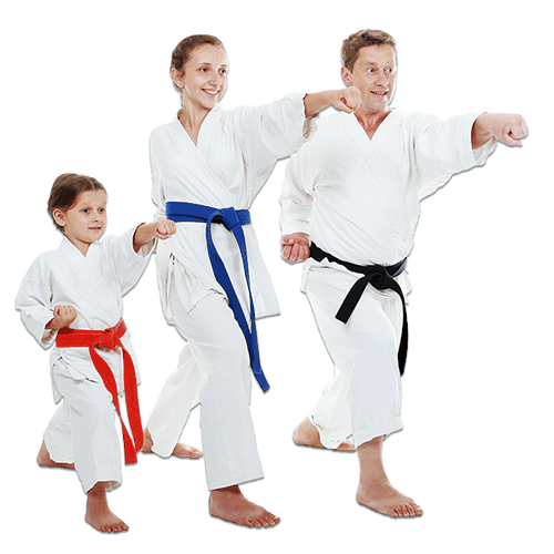 Martial Arts Lessons for Families in Lake Jackson TX - Man and Daughters Family Punching Together
