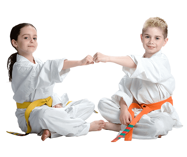 Martial Arts Lessons for Kids in Lake Jackson TX - Kids Greeting Happy Footer Banner