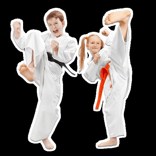 Martial Arts Lessons for Kids in Lake Jackson TX - Kicks High Kicking Together